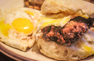 Country fried steak with a Tex-Mex twist. Perfect on a biscuit.