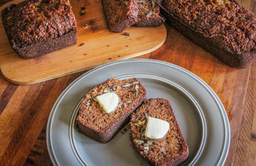 A slice or two of Pawpaw Pecan Nut Bread makes a great pre-hunt breakfast.