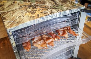 We like to use our Magic Chef Realtree Dehydrator when making jerky of any kind.