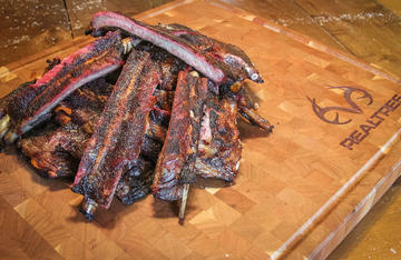 While wild pig ribs tend to be lean and thin, they still taste great when slow smoked on the Traeger.