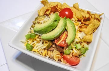 If your family like tacos, try this quick and easy venison taco warm pasta salad.