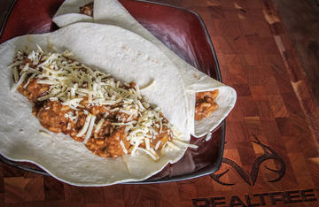 Combine tasty red beans and rice with crispy fried venison steaks in one burrito.
