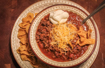 A warm bowl of venison chili is hard to beat after a cold day afield.