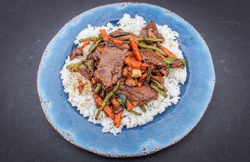 Venison and sweet potatoes make a great combination in this easy and quick family meal.