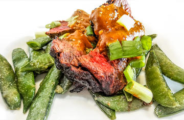Drizzle this all purpose sauce over grilled venison with stir fried sugar snap peas for an Asian inspired meal.