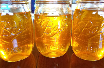 Rendered bear fat will keep for up to a year in the refrigerator when stored in jars with tight fitting lids.