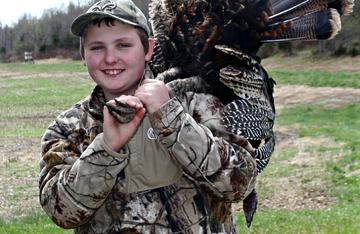 Hunter Pendley shows how to skin and quarter a wild turkey.