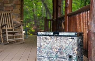 Magic Chef Realtree Portable Freezer is perfect for home or camp.