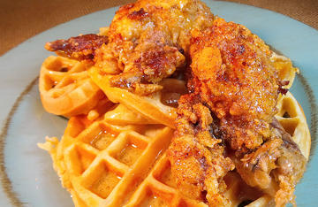 The next time you are in the mood for something a little sweet and a little spicy, try Nashville Hot Chicken Style Quail and Waffles.