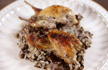 Quail, wild rice, and mushrooms go together in this delicious and easy to make casserole.