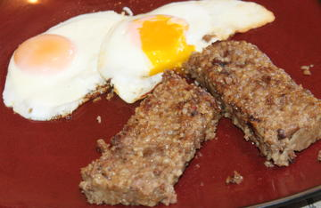 Serve goetta with eggs for a rib sticking breakfast that will carry you through a long day afield.