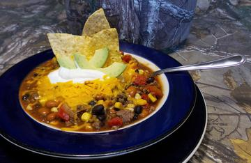 Venison Taco Soup is easy to cook, even for the youngest of wild game chefs.