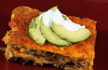Mexican Lasagna uses any ground venison and is a dish the entire family will enjoy.