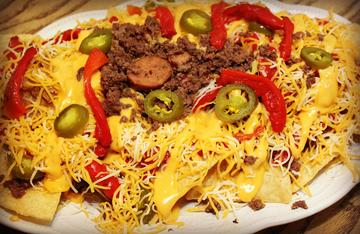 Loaded venison nachos