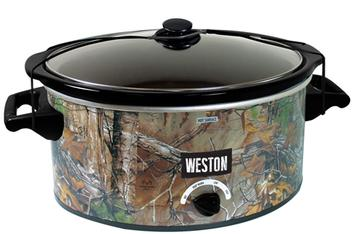 The new Weston Realtree Outfitters Slow Cooker