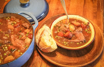 Hunter's Lot Irish Stew is a fantastic way to clean out those small packs of meat from the freezer.