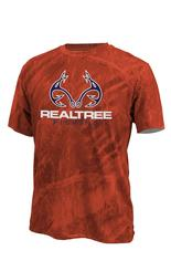 Realtree Men's Cast Performance Short Sleeve T-Shirt Fire