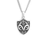 Men's Stainless-Steel Necklace with Realtree Shield Pendant by Titanium Buzz