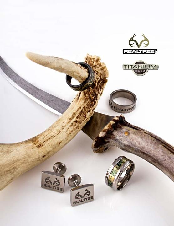 realtree new titanium cufflinks realtree new camo jewelry from titanium buzz - Realtree Camo Wedding Rings