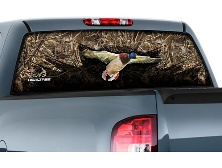 Graphics For Turkey Rear Window Graphics Wwwgraphicsbuzzcom - Rear window hunting decals for trucksgeese scenery sticker for rear window hunting decals for trucks