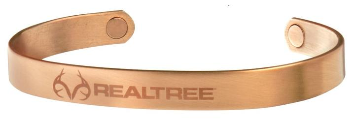 Realtree Camo Stainless Magnum Magnetic Brushed Copper Wristband