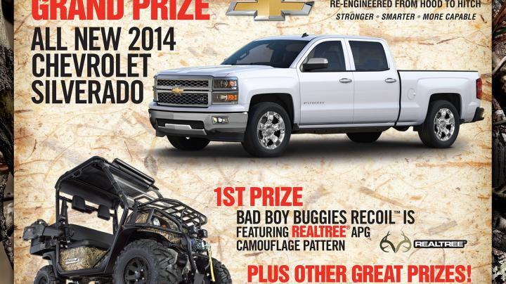 Enter to Win a 2014 Chevrolet Silverado and More with Hunt Brothers Pizza Preview Image