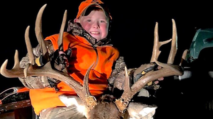 Youth Hunter's Long Journey Ends with Huge Buck Preview Image