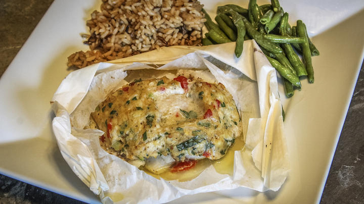 Crappie En Papillote With Crab Meat Stuffing Recipe Preview Image