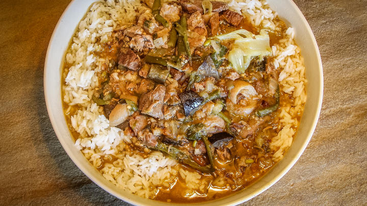 Venison and Pork Shank Kare Kare Stew Recipe Preview Image