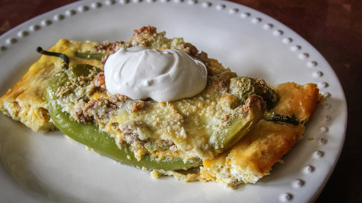 Sausage and Egg Stuffed Hatch Green Chile Peppers Recipe Preview Image