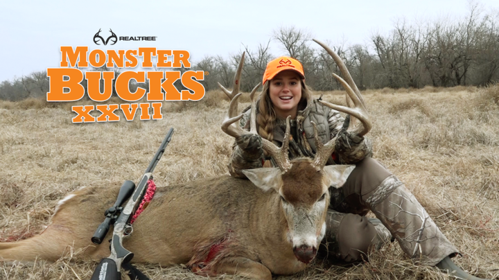 Monster Bucks 27: Woman Takes Giant Late-Season Kansas Buck Preview Image