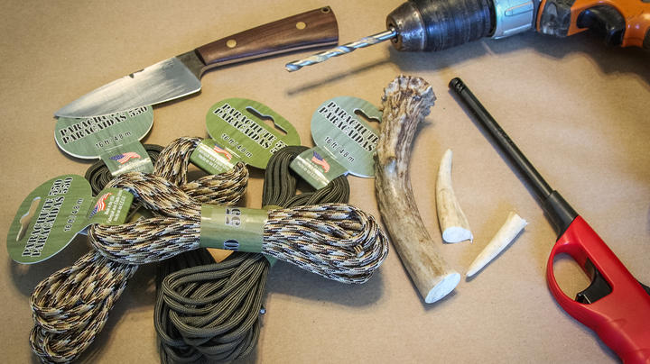 How to Make a Turkey Hunting Tote from a Deer Antler and Paracord  Preview Image