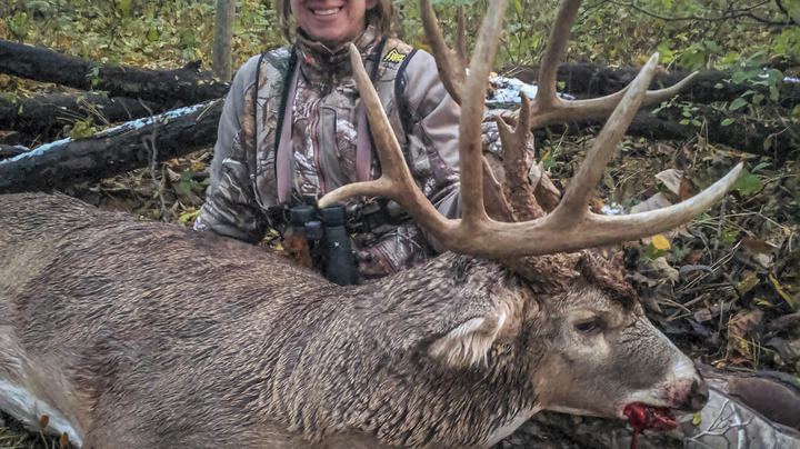 Christina Krajcsovics's Giant Iowa Bow Kill Preview Image