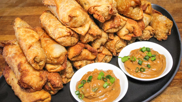 Crawfish Egg Rolls with Spicy Sesame Peanut Sauce Preview Image