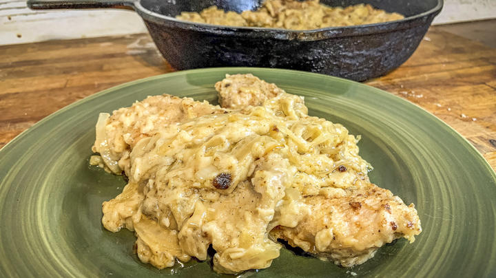 Onion-Gravy Smothered Fried Turkey  Preview Image