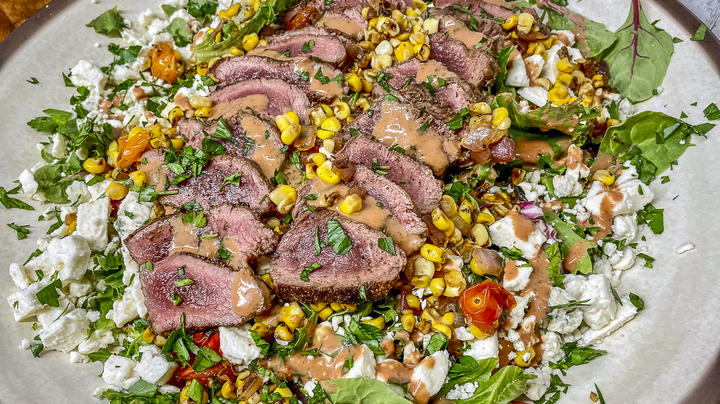Sweet Corn and Backstrap Summer Salad with Strawberry Vinaigrette Preview Image