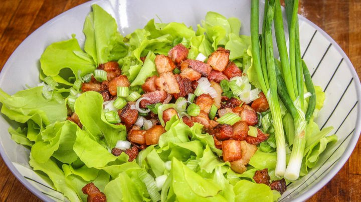 Kilt, Killed, or Wilted Fresh Lettuce and Bacon Salad Preview Image