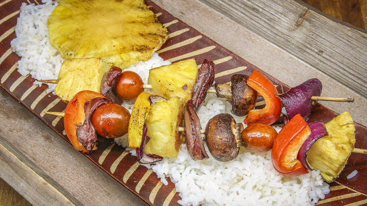 Grilled Hawaiian-Style Turkey Heart Skewers Preview Image