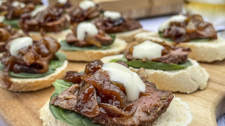 Venison Backstrap and Caramelized Onion Canapes Preview Image