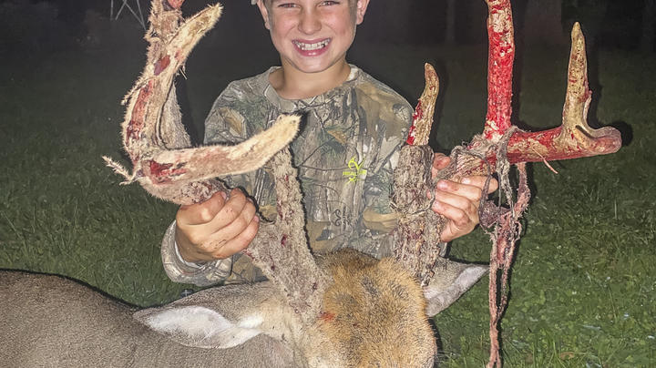 9-Year-Old's First Bow Buck is an 8-Point Stud Preview Image