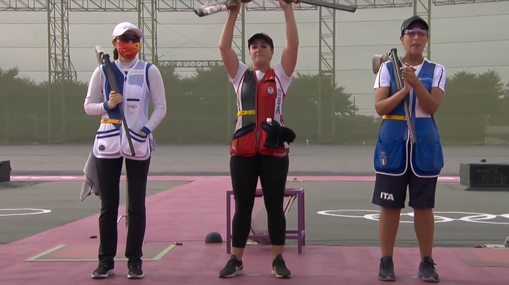 Team USA's Amber English Wins Women's Skeet Olympic Gold Medal, Sets Record Preview Image