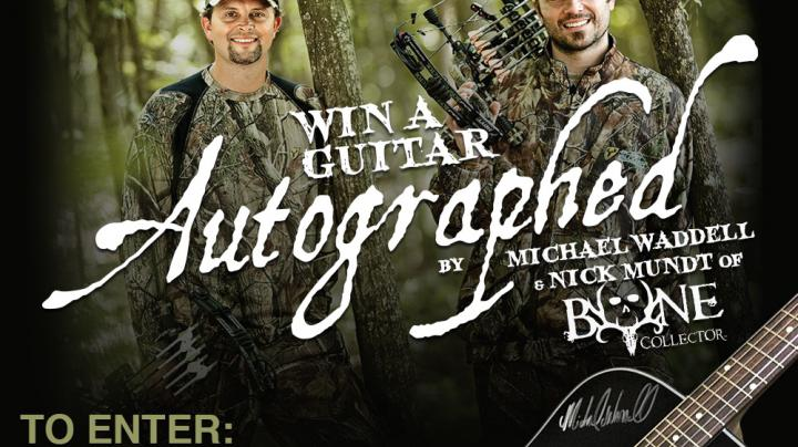 Enter Now to Win a Realtree® Camo Krossroad Guitar Autographed by Michael Waddell and Nick Mundt of Bone Collector Preview Image