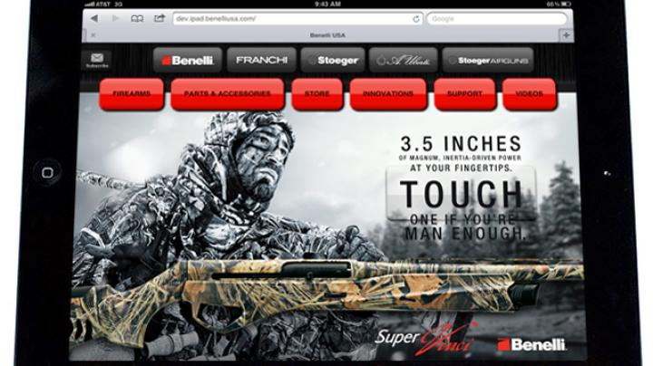 Benelli USA Launches First iPad/Tablet-Formatted Website for All Brands! Preview Image