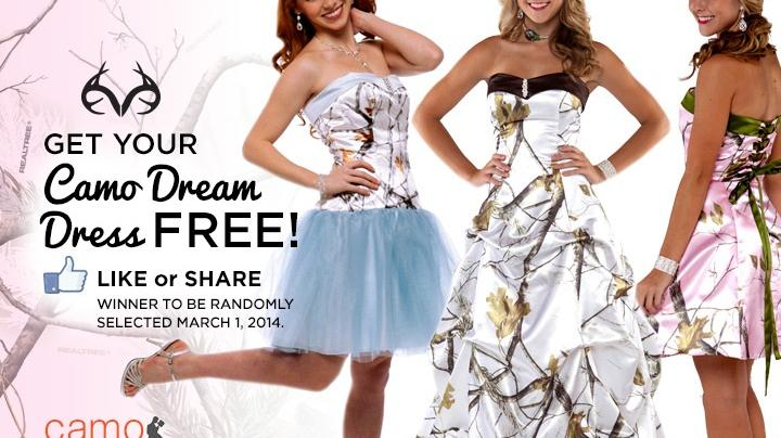 Win a Free Camo Formal Prom Dress Preview Image