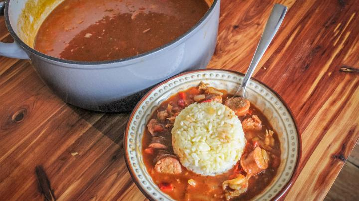 Classic Crawfish and Andouille Sausage Etouffee Recipe Preview Image