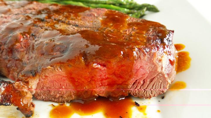 Grilled Elk Steak with Sorghum and Bourbon Steak Sauce Preview Image
