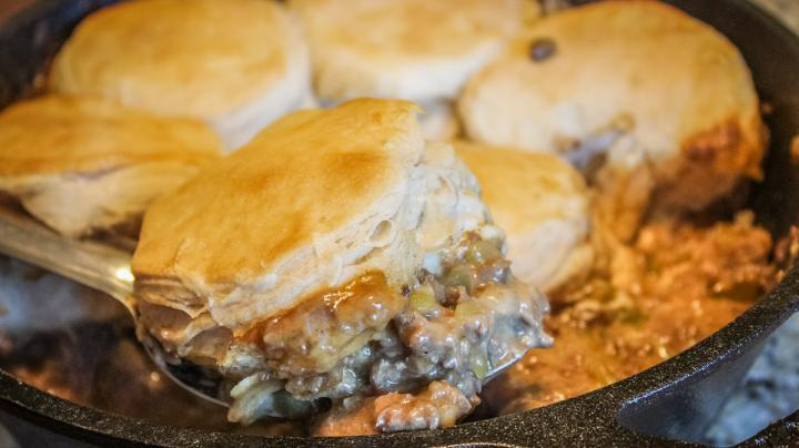 Green Chile Nacho Venison Burger Casserole Recipe Preview Image