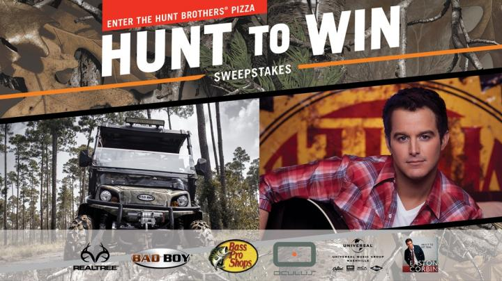 """Hunt Brothers® Pizza Teams with Easton Corbin for Fourth Annual """"Hunt To Win"""" Sweepstakes Preview Image"""
