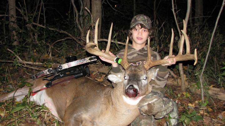 Rack Report: 12-Year-Old Zach Barker's 175-inch Crossbow Buck Preview Image
