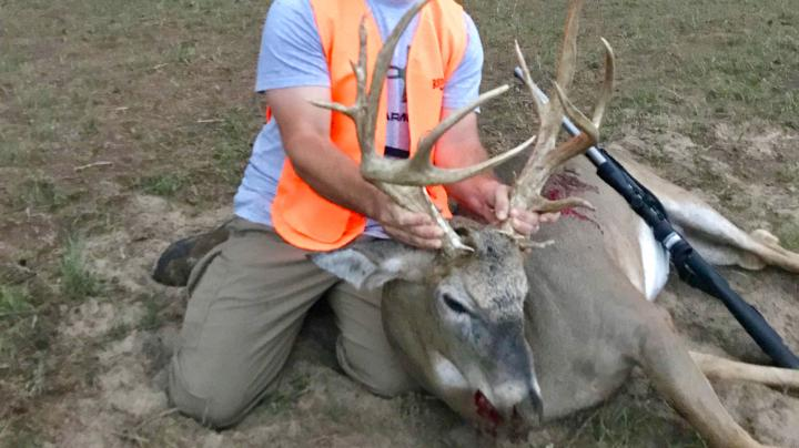 Muzzleloader Hunter Tags Big Non-Typical Whitetail Preview Image